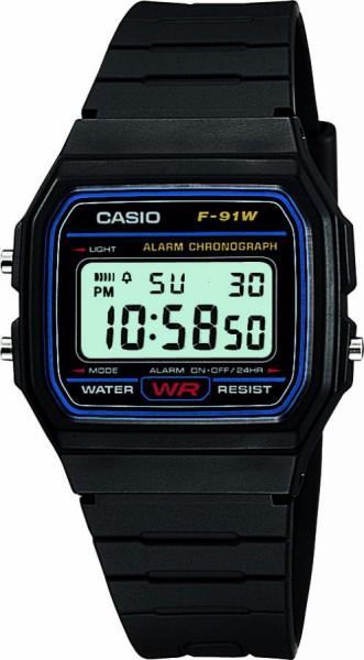 Unisex Casio Classic Alarm Chronograph Watch (F-91W-1XY)
