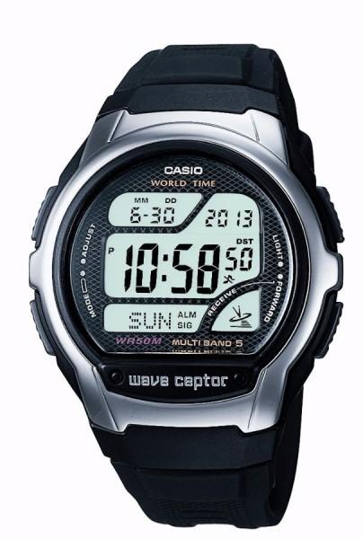 CASIO MEN'S WAVE CEPTOR ALARM CHRONOGRAPH RADIO CONTROLLED WATCH