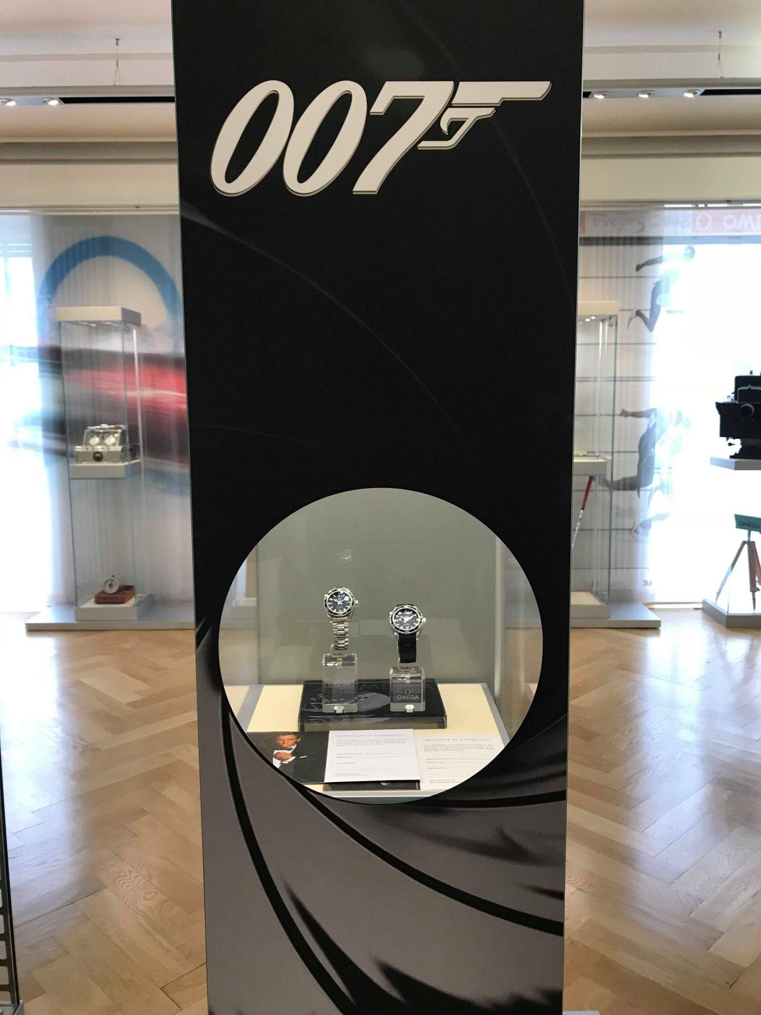 James Bond watch, Omega 007, Omega museum, Biel, Switzerland