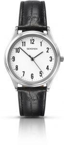 Sekonda Men's Black Leather Wristwatch