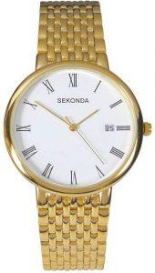 Sekonda Men's Traditional Gold Plated Quartz Watch